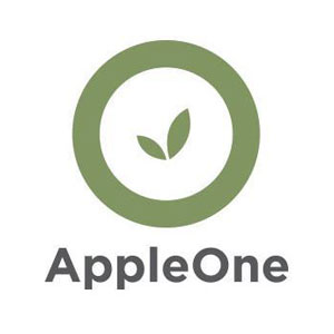 Apple One: Accounting/Finance, Administrative/Clerical, Customer/Community Service, Program/Project Management, Professional/Management, Technical